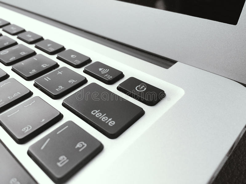 键盘橡皮防水布书 免版税库存图片