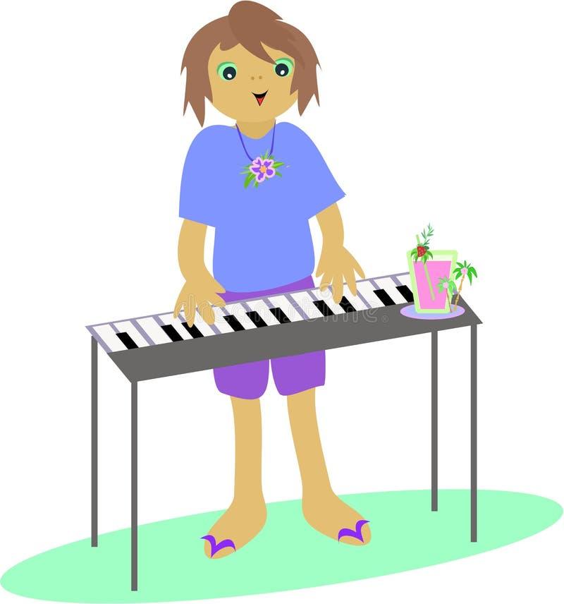 键盘演奏者 库存例证
