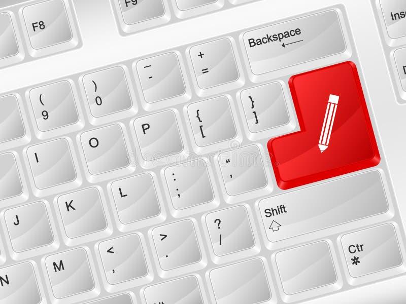 键盘笔标志 库存例证