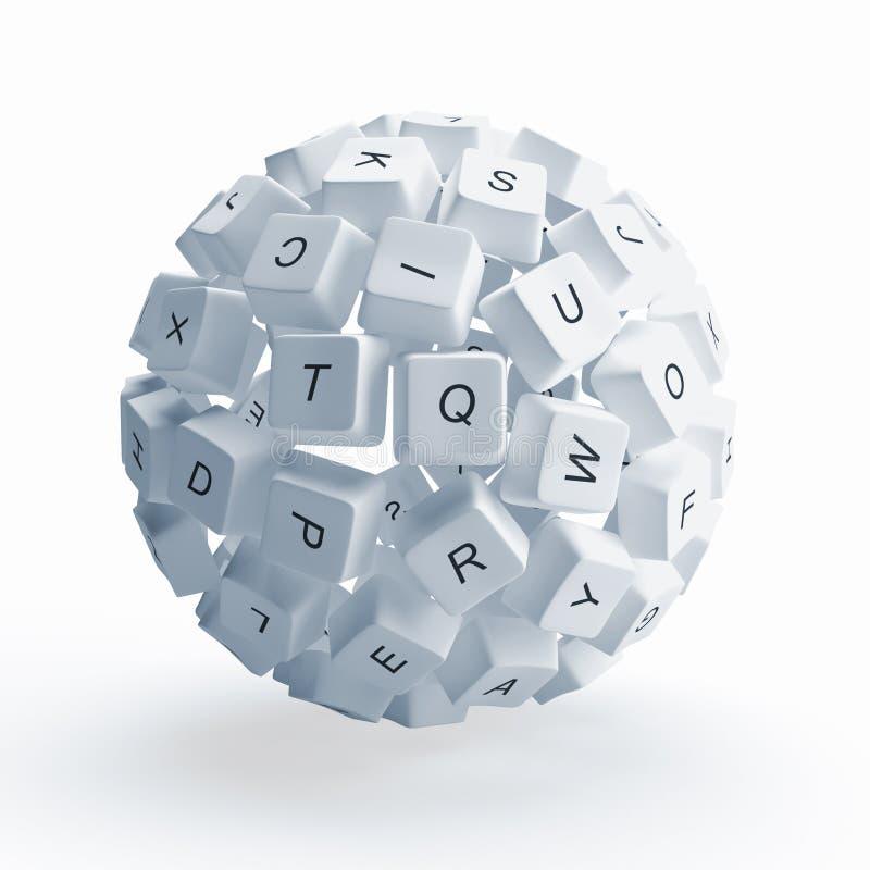 键盘键 库存例证