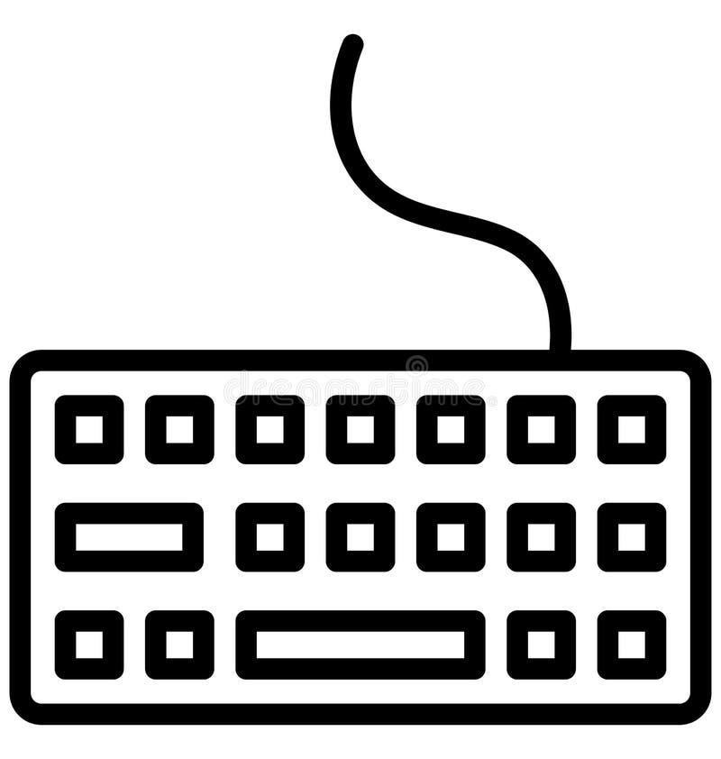 键盘隔绝了可能容易地修改或编辑的传染媒介象 皇族释放例证