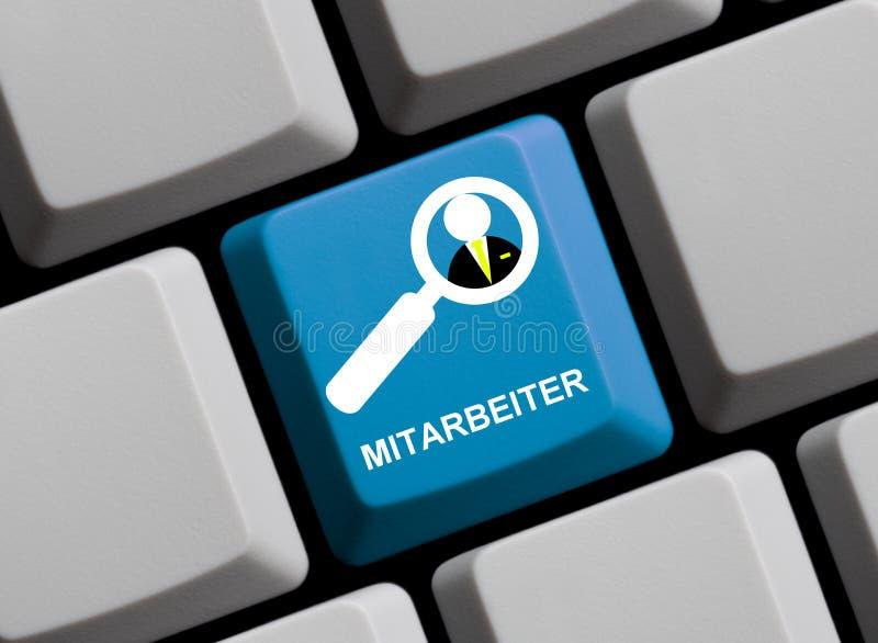 键盘:职员德语 免版税库存图片