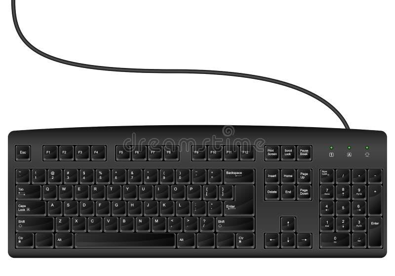 键盘 皇族释放例证