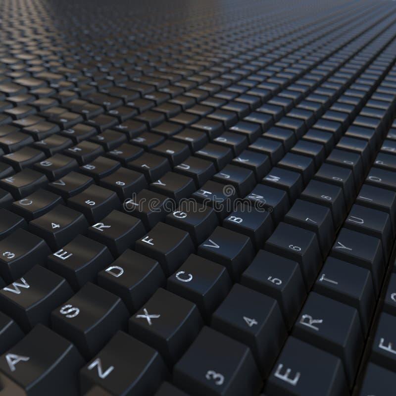 黑键盘 图库摄影