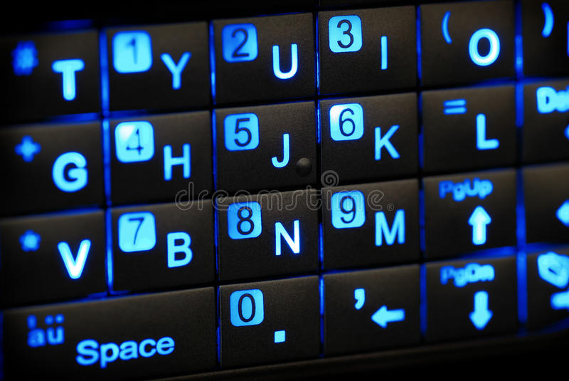 键盘pda 图库摄影