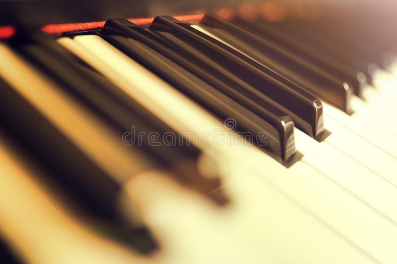 琴键钥匙 免版税库存图片