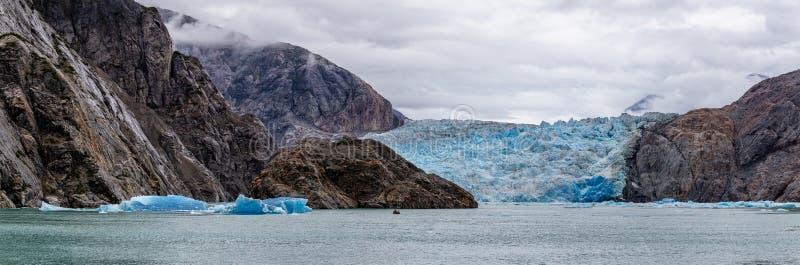 锯工冰川在阿拉斯加,美国 免版税图库摄影