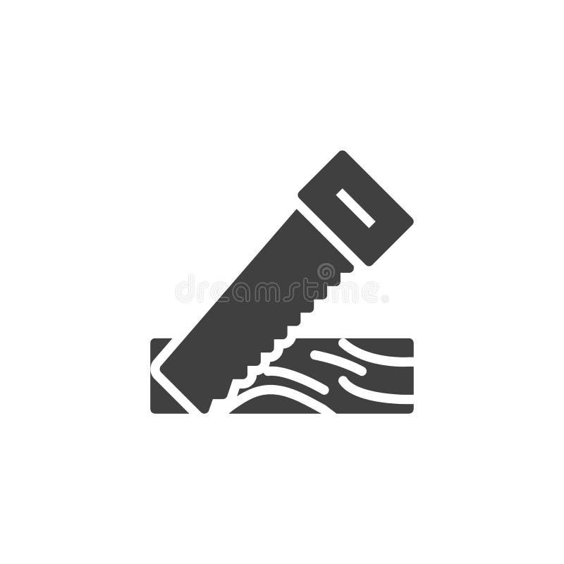 锯的木板条传染媒介象 库存例证