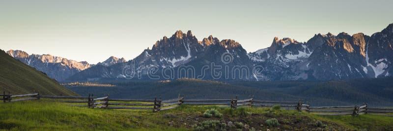 锯齿山脉,爱达荷 免版税库存照片