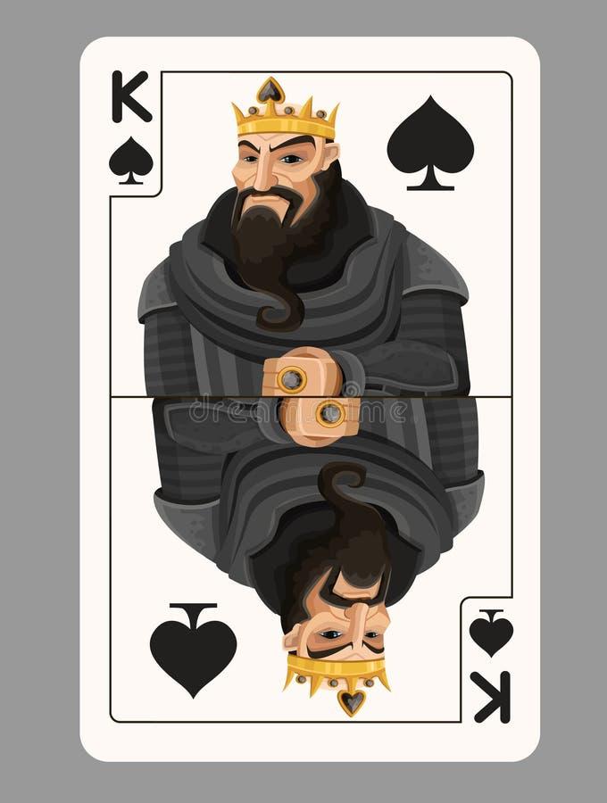 锹纸牌的国王 库存例证