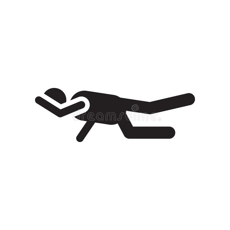 锻炼象在白色背景和标志隔绝的传染媒介标志,锻炼商标概念 皇族释放例证