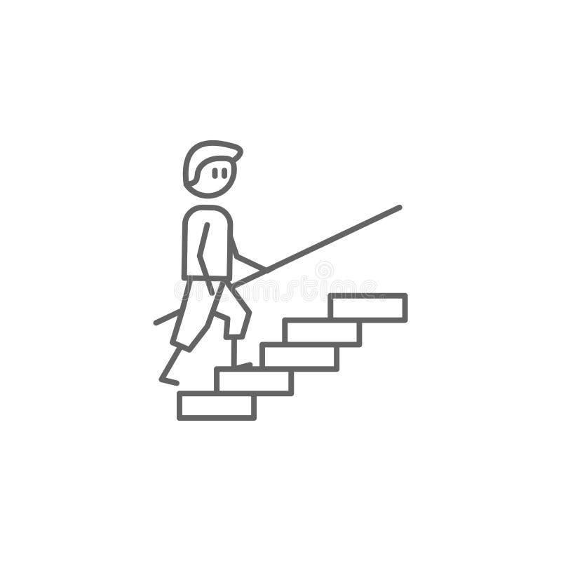 锻炼,物理疗法,台阶象 物理疗法象的元素 网站设计和发展的,应用程序稀薄的线象 皇族释放例证