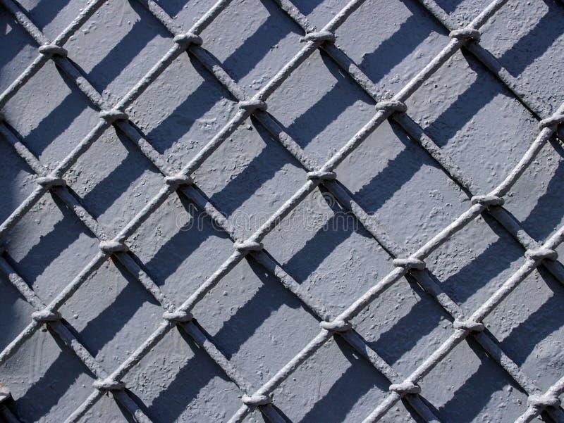 锻铁篱芭,灰色,金属,混凝土,墙壁 免版税库存照片