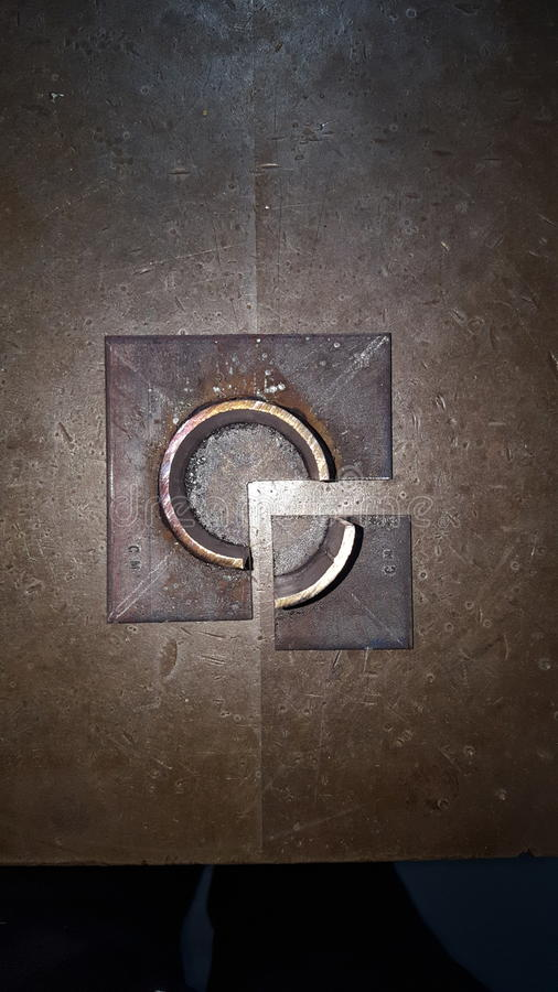 镀焊接的管子 库存图片