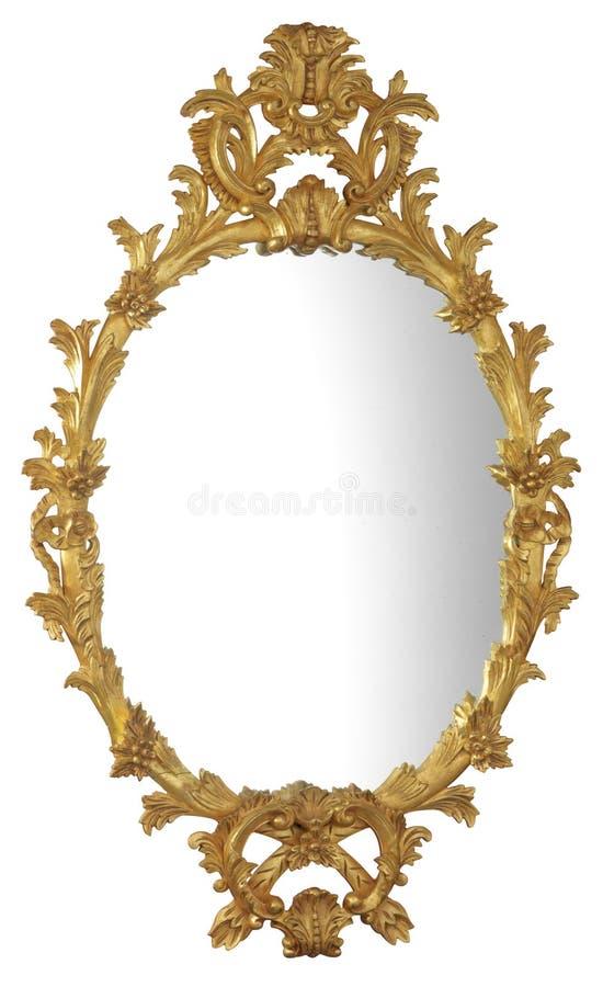 镀金面镜子 免版税库存照片