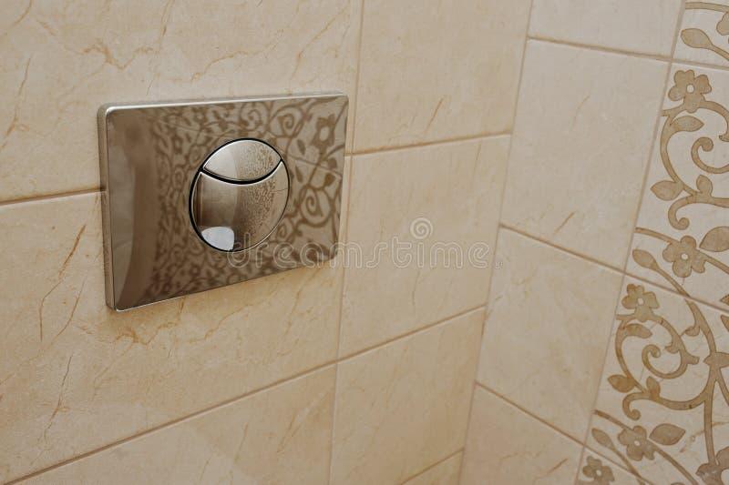镀铬物充足的按钮 免版税库存图片