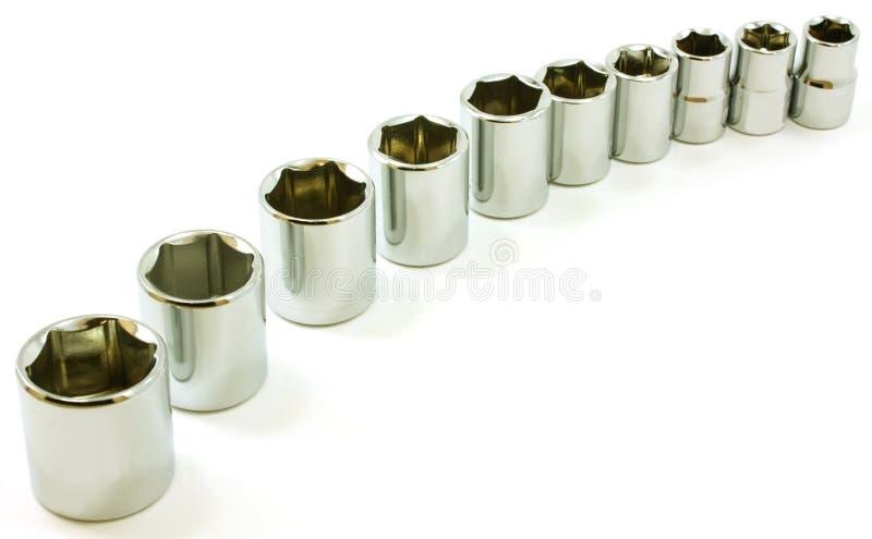 镀铬物曲线空白棘轮的插口 免版税库存图片
