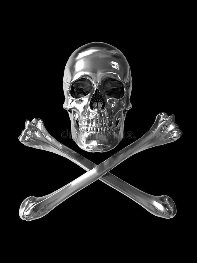 镀铬物毒物符号含毒物 皇族释放例证