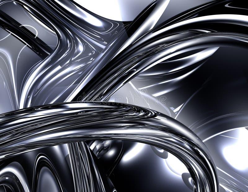 镀铬物突触 向量例证