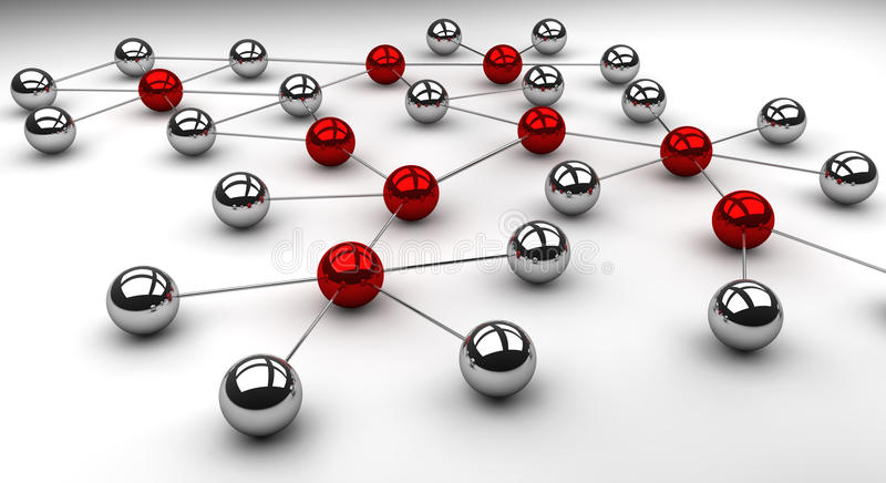 镀铬物网络 向量例证