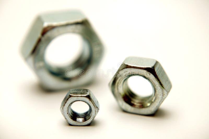 镀铬物螺母三 库存图片