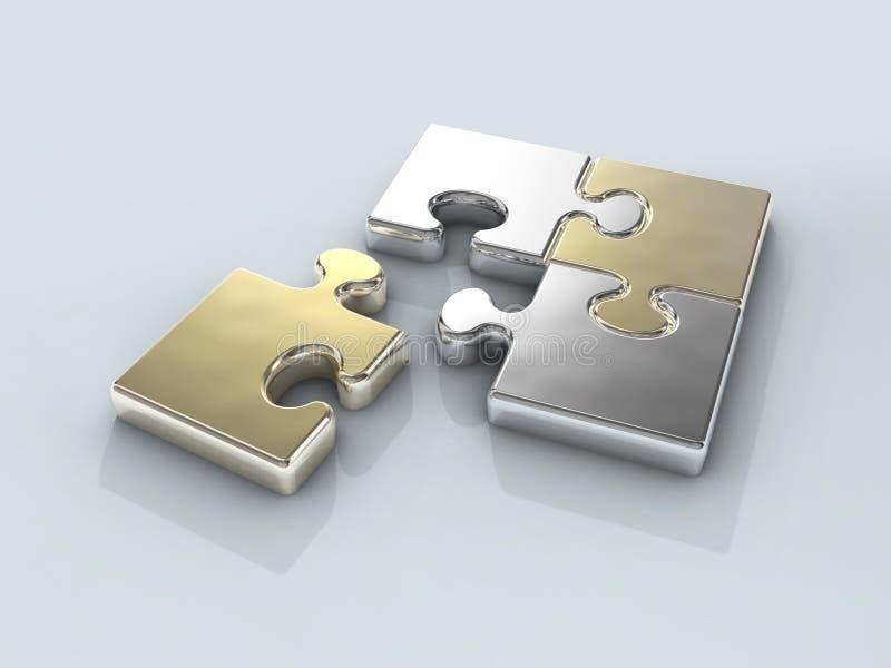 镀铬物连接数四难题 向量例证