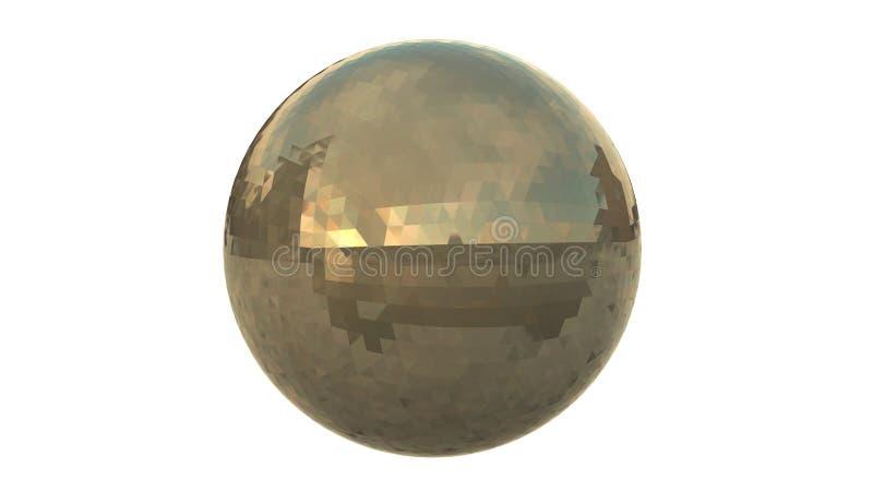 镀铬物Geo球形 图库摄影