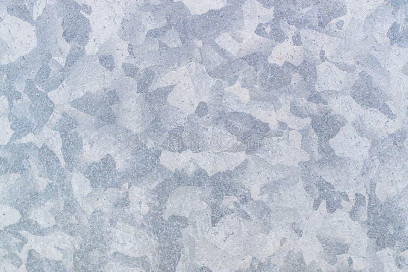 镀锌被镀锌的难看的东西金属纹理可以使用作为背景,灰色背景 免版税库存照片