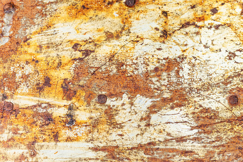 镀锡铁老生锈的金属表面  免版税库存照片