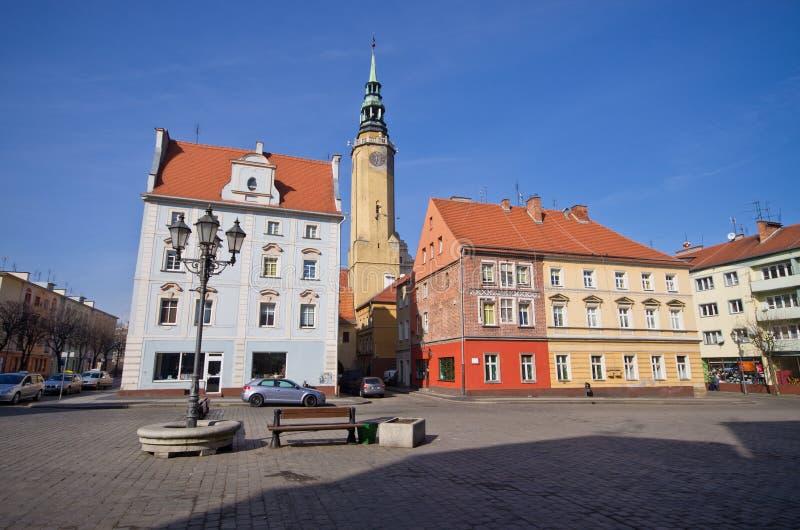 镇中心在布热格,波兰 库存照片