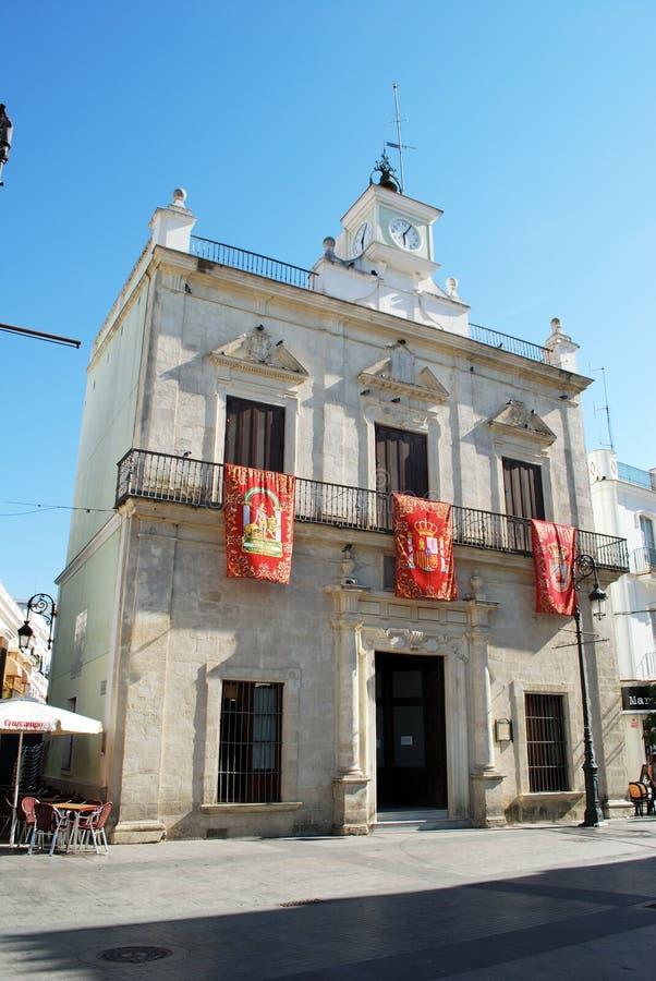 镇图书馆, Sanlucar de Barrameda 库存照片