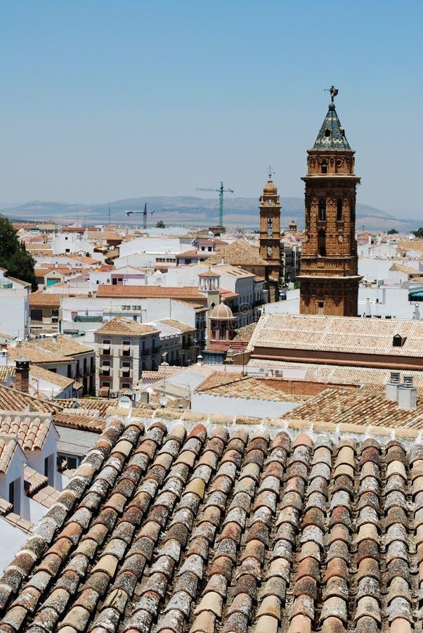 镇屋顶,安特克拉 库存照片