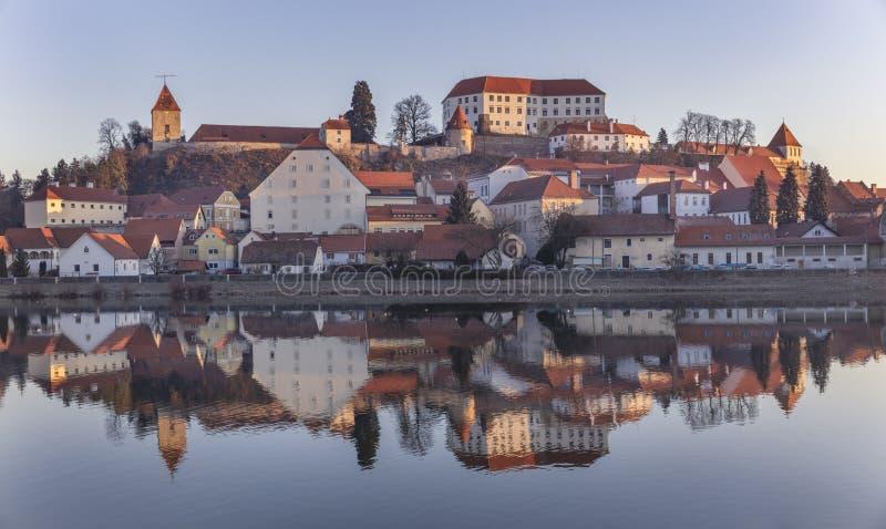 镇普图伊在斯洛文尼亚 库存照片