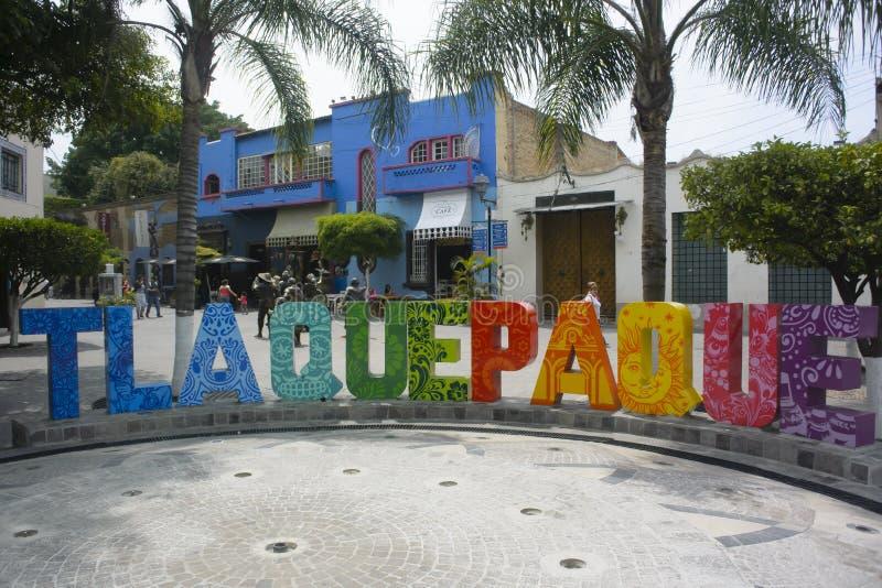 镇标志,哈利斯科州,墨西哥 库存图片