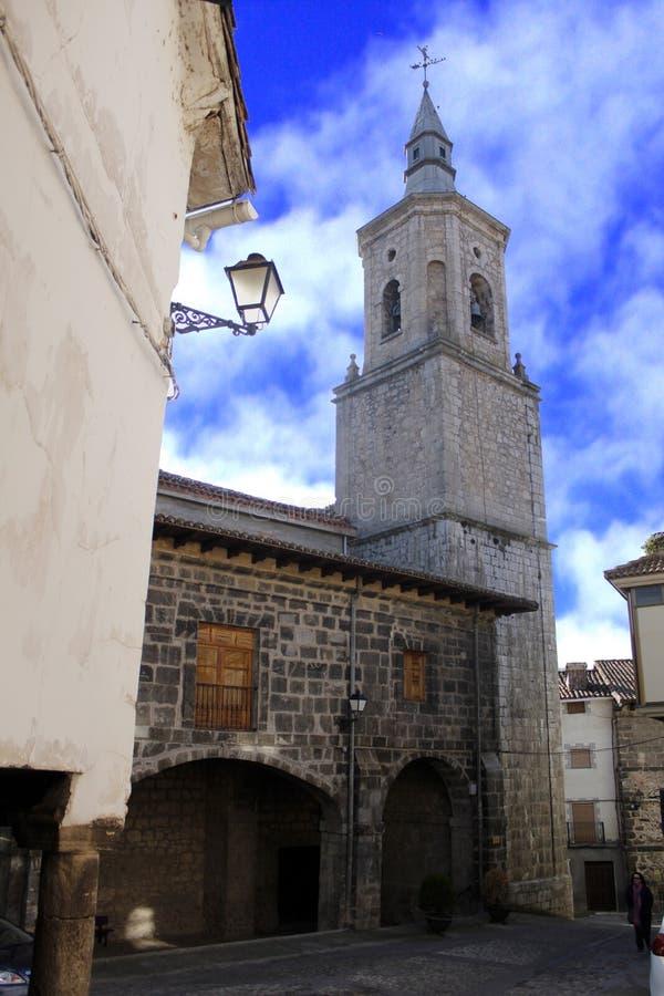 镇的教会 库存照片