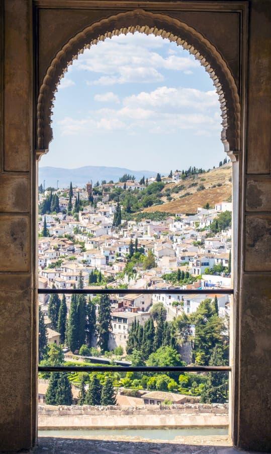 镇阿尔罕布拉宫在西班牙 免版税库存照片