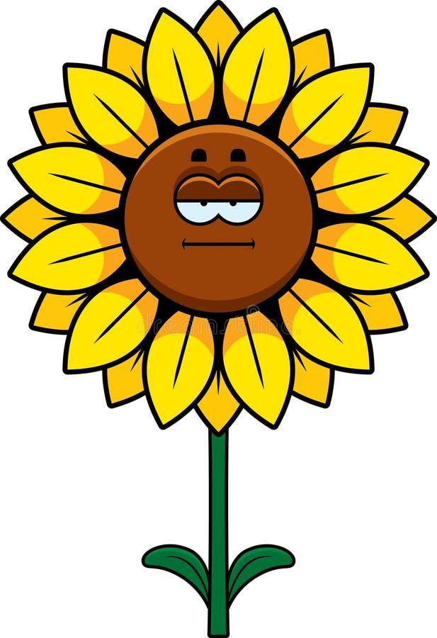 镇静向日葵 向量例证