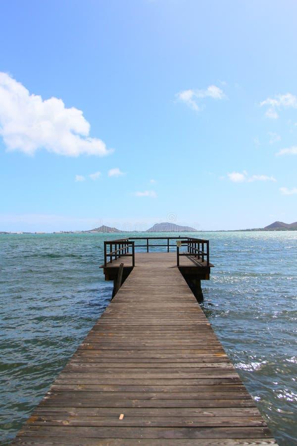 镇静夏威夷船坞 免版税库存图片