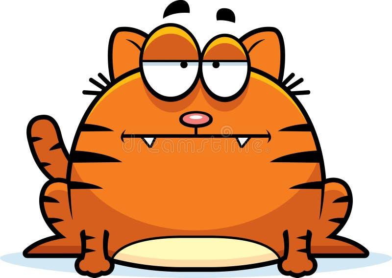 镇静小的猫 向量例证