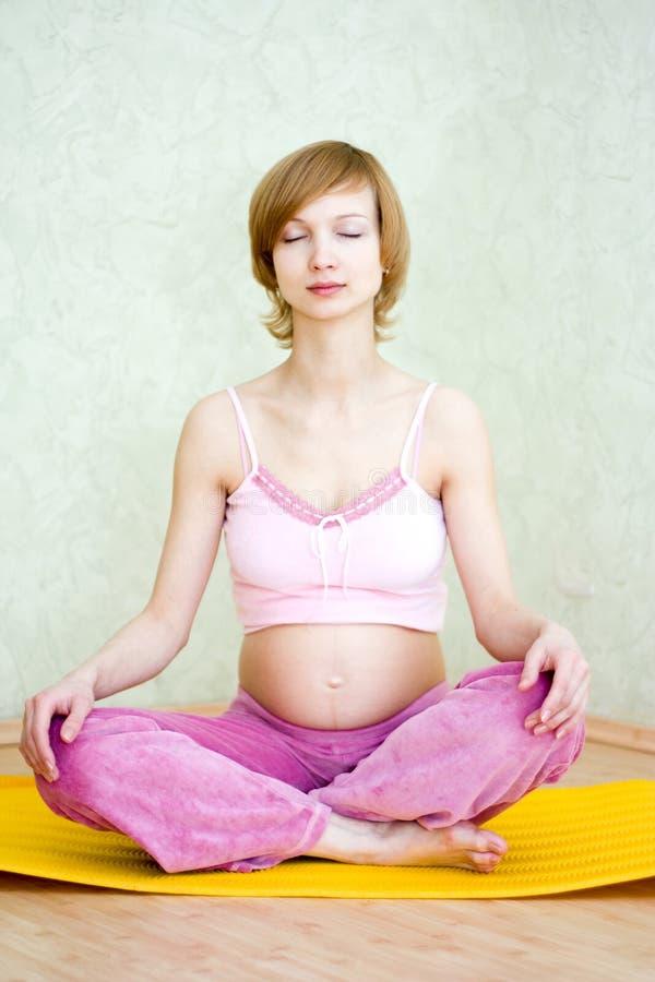镇静怀孕 库存图片