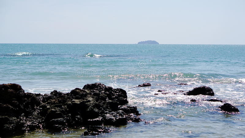 镇静热带海滩 库存照片