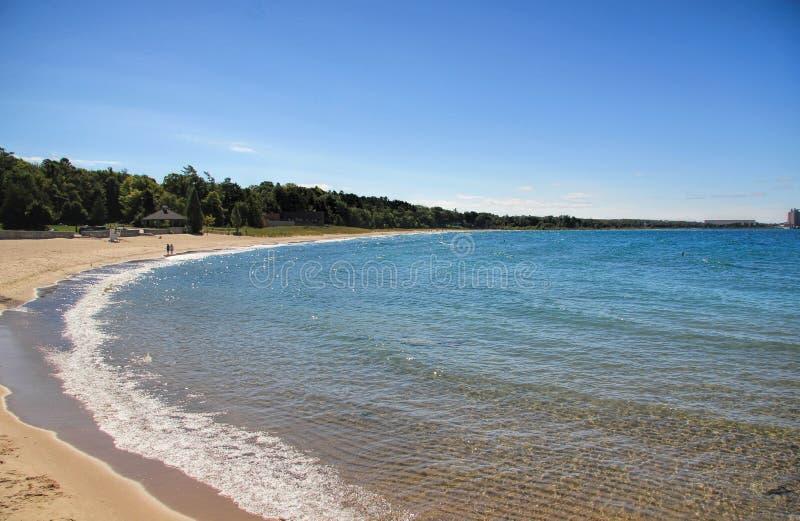 镇静Charlevoix海滩在密执安 免版税库存照片