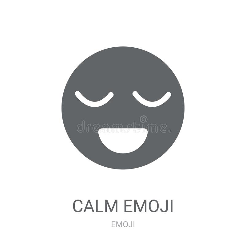 镇静emoji象  皇族释放例证