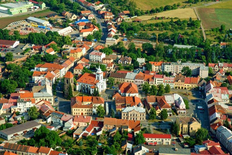 镇Cesky Brod -历史城市 免版税库存图片