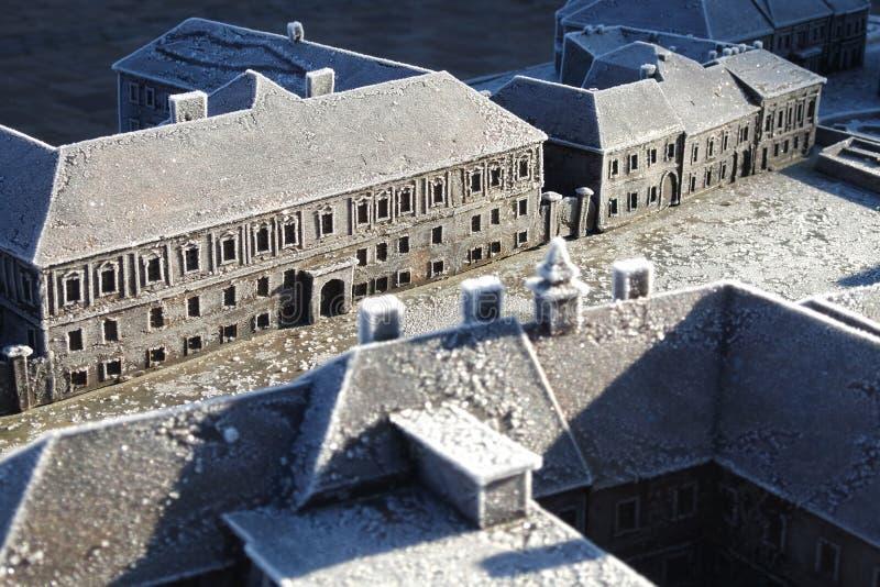 镇Vac,匈牙利的微型模型 免版税图库摄影