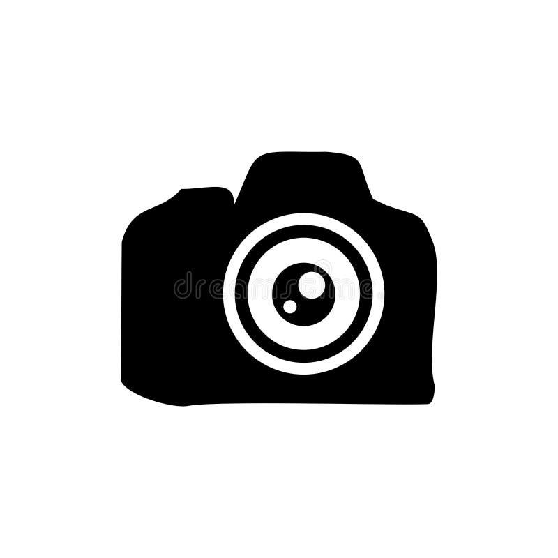 镜头专业剪影标志设计 向量例证