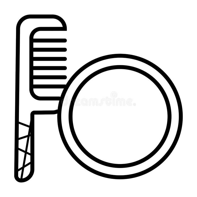 镜子和梳子象传染媒介 向量例证