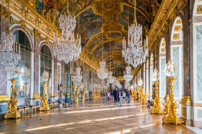 镜子大厅在凡尔赛宫 库存照片