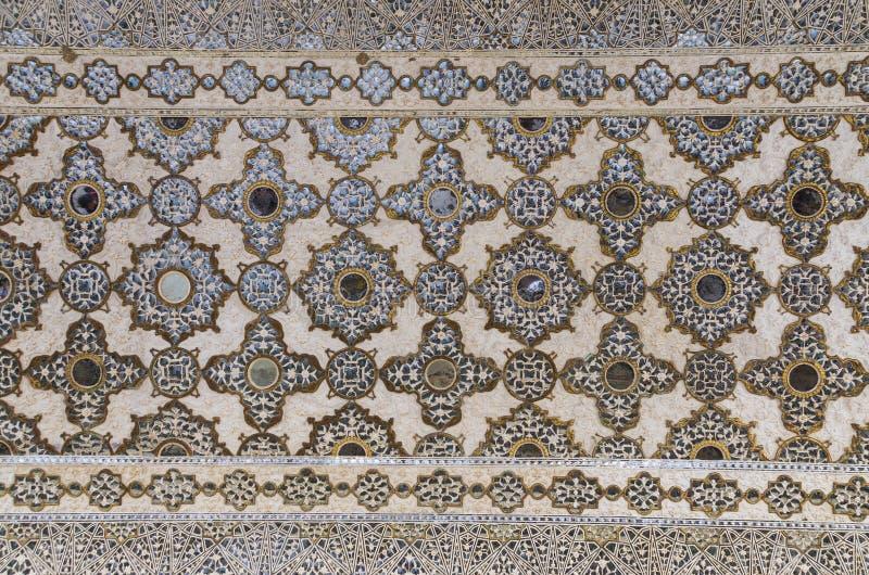 镜子宫殿的天花板在阿梅尔宫殿 库存图片