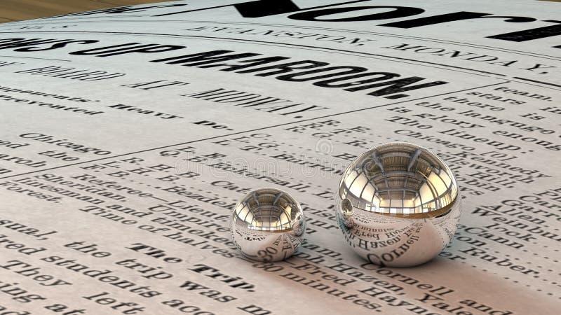 镜子球3D 库存图片